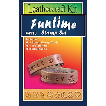 Leather Craft Kit Funtime Stamp Set T491008
