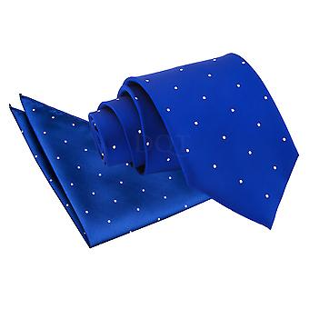 Men's Pin Dot Royal Blue Tie 2 pc. Set