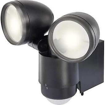 LED outdoor floodlight (+ motion detector) 10 W Daylight white renkforce 1432725 Black