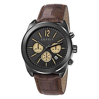 ESPRIT mens watch watch Dylan leather Chrono black ES107571003