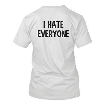 I Hate Everyone Back Print Men's Shirt Graphic T-shirt Short Sleeve Tee Funny Shirt