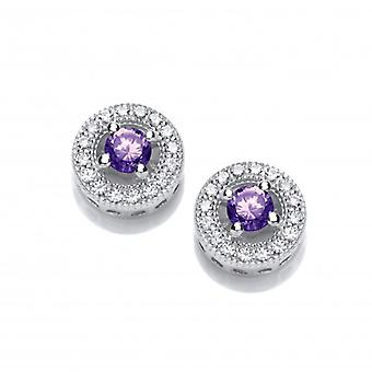 Cavendish French Twinkle Toes Amethyst Solitaire Earrings