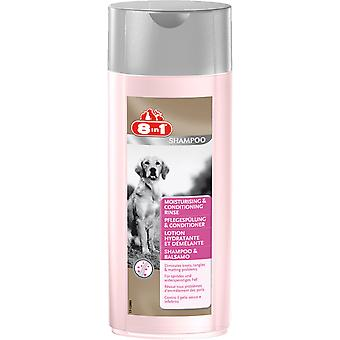 8in1 Dog Shampoo Moisturising & Conditioning 250ml (Pack of 6)