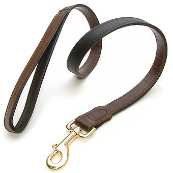 Yacare Leather Lead Brown 20mm X 100cm