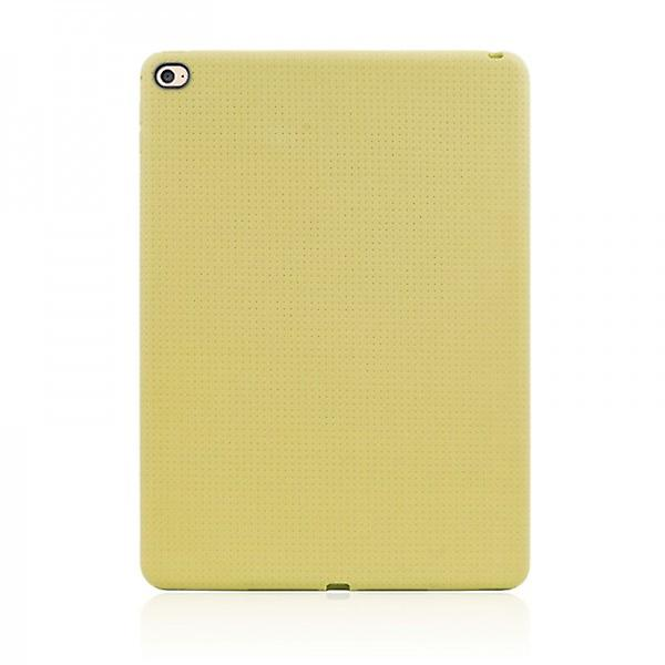 Protective cover silicone cover network series yellow for Apple iPad air 2 2014