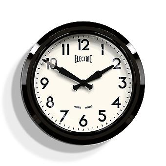 Newgate 50's Electric Black Wall Clock
