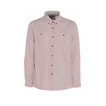 Rosa Chevron Mini impresión camisa de manga larga TP564-L los hombres