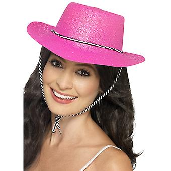 Cowboy hat glitter NEON PAL party hat of glitter party hat