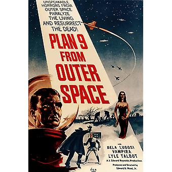 Plan 9 From Outer Space Vintage Sci-Fi Poster Print Giclee