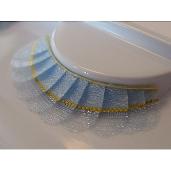 W.A.T Blue And Gold Fabric False Eyelashes