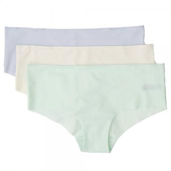 Tommy Hilfiger Women Smooth Comfort Prinsy 3-Pack Shorty Brief, Egret/Blue/Honeydew, X-Large