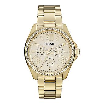 Fossil ladies watch wristwatch stainless steel gold AM4482 CÉCILE