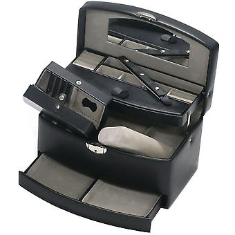 Jewelry box jewelry box jewelry box mirror in black with travel case