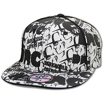 Dark n Cold All Over Print Baseball Cap White Black