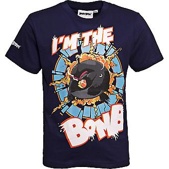 I'M THE BOMB | ANGRY BIRDS MOVIE | Official Licensed | Angry Bird T-Shirt | Age 9-10