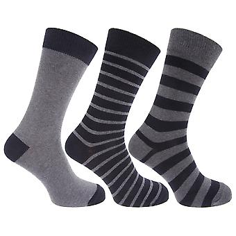 Mens Cotton Rich Striped Ankle Socks (Pack Of 3)