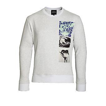 HERO'S HEROINE Patches Sweatshirt Grey Marl