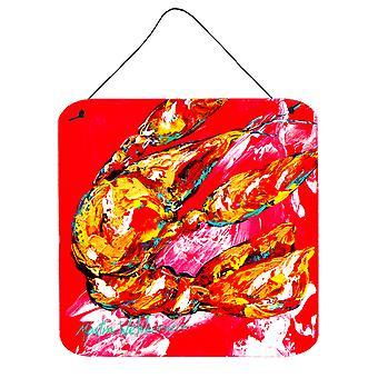 Crawfish Too Hot Aluminium Metal Wall or Door Hanging Prints