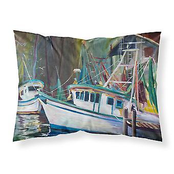 Joe Patti Shrimp Boat Fabric Standard Pillowcase