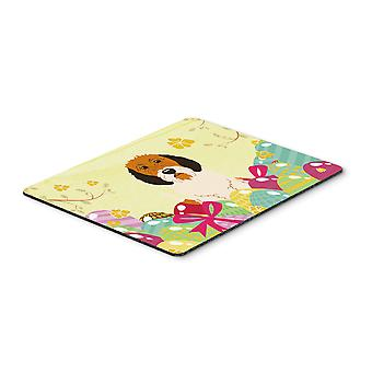 Easter Eggs Petit Basset Griffon Veenden Mouse Pad, Hot Pad or Trivet