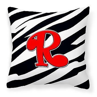 Вензель первоначальный R Зебра красные Декоративные полотна ткани подушку CJ1024