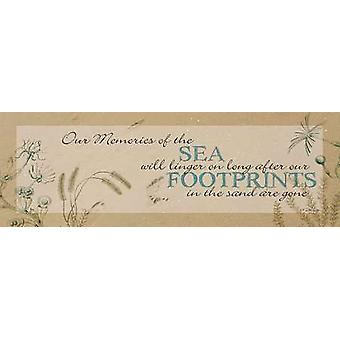 Footprints in the Sand Poster Print by Dee Dee (18 x 6)