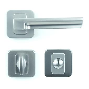 Premium M4TEC ZA5 Bathroom & Toilet Interior Door Handle – Made Of Die-Cast Zinc – Gloss Chrome-Plated Finish – Sturdy, Durable & Easy To Install – Elegant & Classy Design - Ideal For WC Doors