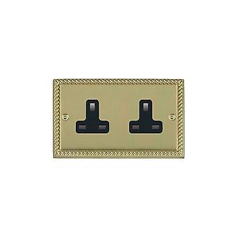 Hamilton Litestat Cheriton Georgian Polished Brass 2g 13A Unswt Skt BL