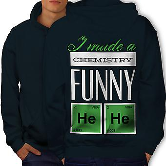 Funny Chemistry Geek Men NavyHoodie Back | Wellcoda