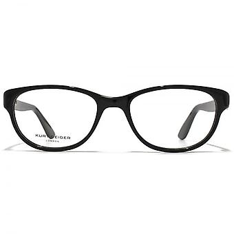 Kurt Geiger Alice Preppy Soft Rectangular Acetate Glasses In Black