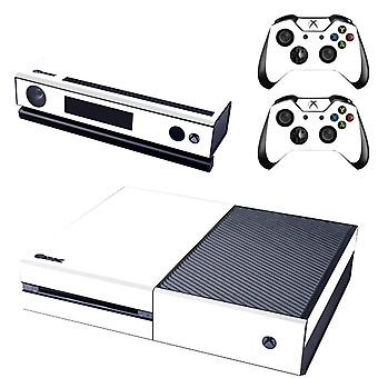 REYTID White Xbox One Console Skin / Sticker + 2 x Controller Decals & Kinect Wrap - Full Set - Microsoft XB1