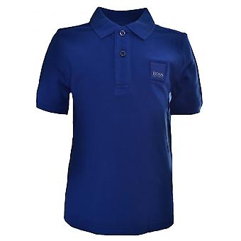 Hugo Boss Kids Hugo Boss Kids Blue Short Sleeved Polo Shirt