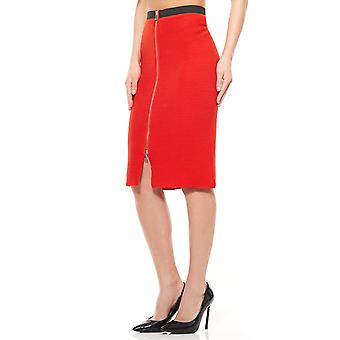 Knit skirt knee length Red B.C.. best connections by heine