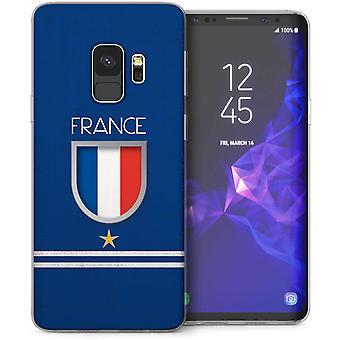 Samsung Galaxy S9 Frankrig fodbold skjold TPU Gel sag-blå