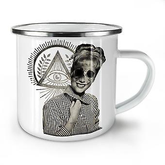 Illuminati Horror Fashion NEW WhiteTea Coffee Enamel Mug10 oz | Wellcoda