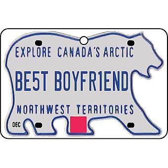 NORTHWEST TERRITORIES - Best Boyfriend License Plate Car Air Freshener