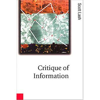 Critique de l'information par Lash et Scott