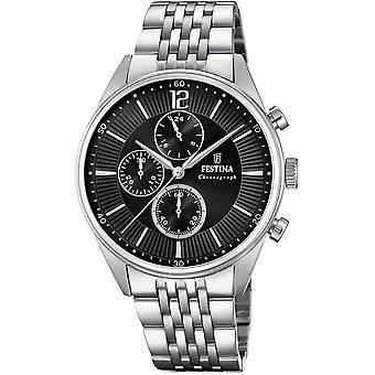 Festina mens watch of timeless chronograph F20285/4