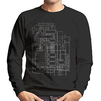 Commodore 64 Computer Schematic Men's Sweatshirt
