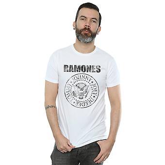 Ramones mænds nødlidende sort sæl T-Shirt