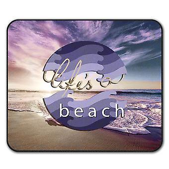 Holiday Beach Vacation  Non-Slip Mouse Mat Pad 24cm x 20cm | Wellcoda