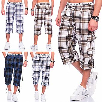 Men's Bermuda shorts Cargoshorts checkered shorts sport diamonds summer stretch stretchy