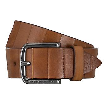 BALDESSARINI belt leather belts men's belts Cognac 4660