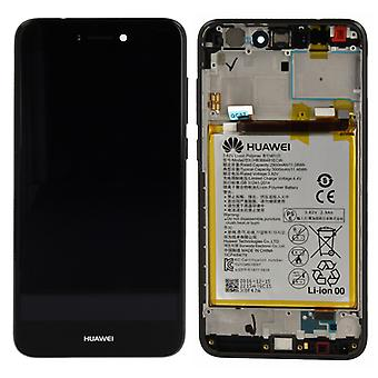 Huawei vise LCD enhed + Service Pack 02351CTJ sort ramme for P8 Lite 2017