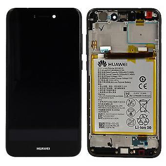 Huawei display LCD unit + Service Pack 02351CTJ black frame for P8 Lite 2017
