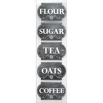Sticko Chalk Label Stickers-Canister Labels