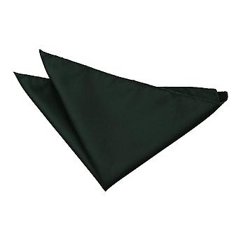 Dark Green solido Check Pocket Square