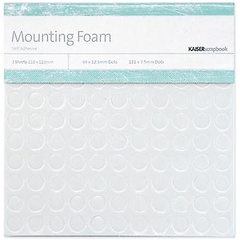 Mounting Foam Dots 3 Sheets/Pkg-(98) 12.5mm & (121) 7.5mm