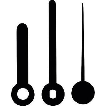 Clockhand set Standard Plastic Black Slot