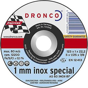 Cutting disc (straight) 125 mm 22.23 mm Dronco AS 60 T INOX 6900945-100 10 pc(s)